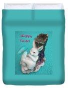Happy Easter Card 6 Duvet Cover
