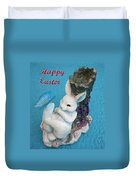 Happy Easter Card 7 Duvet Cover