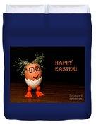 Happy Easter Greeting Card. Funny Eggmen Series Duvet Cover