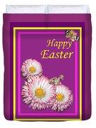 Happy Easter Hiding Bunny Duvet Cover