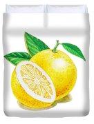 Happy Grapefruit- Irina Sztukowski Duvet Cover