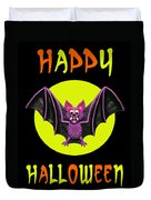 Happy Halloween Bat Duvet Cover