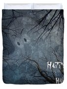 Happy Halloween - Ghost In Trees Duvet Cover