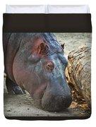 Happy Hippo Duvet Cover
