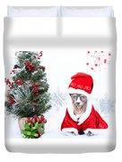 Xmas Holidays Greeting Card 108 Duvet Cover