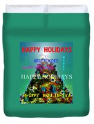 Happy Holidays Word Splash A Duvet Cover
