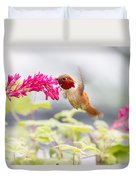 Happy Hummer Duvet Cover