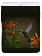 Happy Little Hummingbird  Duvet Cover