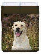 Happy Labrador Duvet Cover