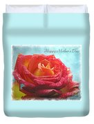 Happy Mothers Day Rose Duvet Cover