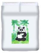 Happy Panda O.o. Duvet Cover