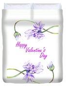 Happy Purple Valentine Duvet Cover