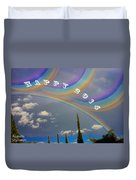 Happy Rainbows Duvet Cover