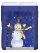 Happy Snow Duvet Cover