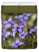 Happy Tiny Bluet Wildflowers Duvet Cover
