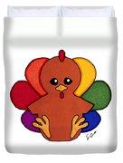 Happy Turkey Day Duvet Cover