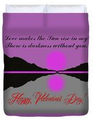 Happy Valentine's Day Duvet Cover by George Pedro