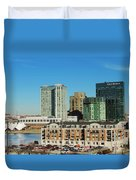 Harbor East Complex In Baltimore From Federal Hill Duvet Cover