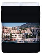 Harbor, Kalkan, Turkey Duvet Cover