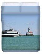 Harbor Light Chicago Duvet Cover by Christine Till
