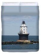 Harbor Of Refuge Lighthouse IIi Duvet Cover