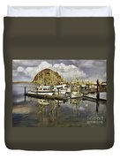 Harbor Reflection Impasto Duvet Cover
