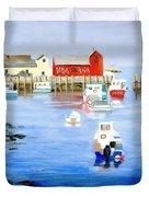 Harbor Scene Duvet Cover