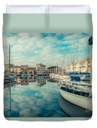 Harbour Of Grado Duvet Cover