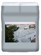 Port Mahon View With A Villa Called Venecia - Harbour Of My Dreams Duvet Cover