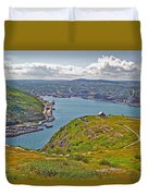 Harbour View From Signal Hill National Historic Site In Saint John's-nl Duvet Cover