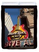 Hard Rock Cafe Guitar Sign In Philadelphia Duvet Cover
