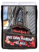Hard Rock Cafe New York Duvet Cover