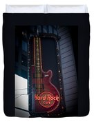 Hard Rock Guitar Nyc Duvet Cover