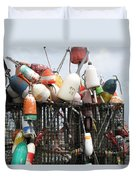 Hard Working Buoys Duvet Cover
