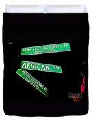 Harlem Crossroads Duvet Cover