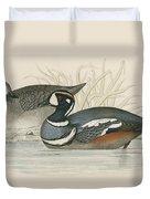 Harlequin Duck Duvet Cover