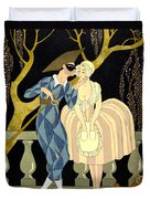 Harlequin's Kiss Duvet Cover by Georges Barbier