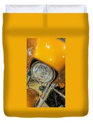 Harley Close-up Yellow 2 Duvet Cover
