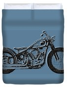 Harley-davidson And Words Duvet Cover