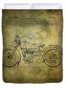 Harley Davidson Motorbike Patent  Duvet Cover