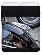 Harley Davidson Motorcycle American Eagle Fender Ornament Usa Duvet Cover