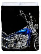 Harley-davidson Panhead Chopper From The Wild Angels Duvet Cover
