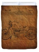 Harley Davidson Patent  Duvet Cover