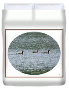 Harmonious Canada Geese Duvet Cover by Will Borden