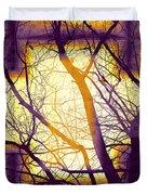 Harmonious Colors - Violet Yellow Orange Duvet Cover