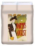 Harpers August 1897 Duvet Cover