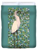 Harried Heron Duvet Cover
