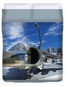 Harrier At Interpid Museum Duvet Cover