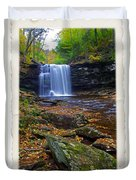 Harrison Wright Falls In Autumn Duvet Cover