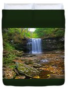 Harrison Wright Falls In Early Fall Duvet Cover